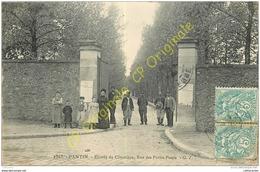 93. PANTIN . Entrée Du Cimetière Rue Des Petits Ponts . - Pantin