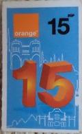 Egypt 15 Pounds- Orange - USED  (Small Size Refill Mobile Card) (Egypte) (Egitto) (Ägypten) Egipto - Egypte