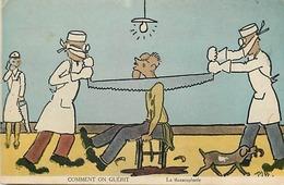 Themes Div-ref CC676- Illustrateurs -illustrateur -humour - Santé -chirurgie - Scieurs De Long - Scie -la Thoraclopatie - Humour