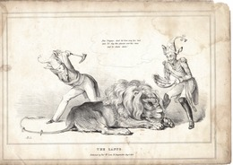 GREAT BRITAIN FRANCE KING CHARLES X POLIGNAC LION 1830 THE ZANYS - Historical Documents