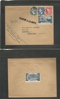 Belgium - XX. 1953 (20 Jan) Mons - USA, CF, Hartford. Multifkd Env + T-label Castle Clemskerke (Born + Trouve A La Boite - Ohne Zuordnung