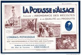 La Potasse D'Alsace, L'engrais Potassique. Buvard En Très Bon état. - Agriculture