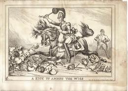 KING WILLIAM IV DUKE OF WELLINGTON 1828 WILLIAM HEATH - Historical Documents