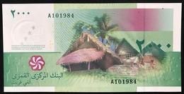COMOROS COMORES 2000 Francs 2005 UNC Pick#17 Lotto 2731 - Comore