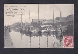 La Louviere - Le Canal ( Batellerie Peniche Libre Echange Maurice De Graef à Louis Bettinger Metz Timbre Au Verso) - La Louvière