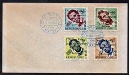 HAITI - LINCOLN - ANNEE MONDIALE DU REFUGIE / 1959 SERIE SUR ENVELOPPE FDC (ref LE3609) - Haïti