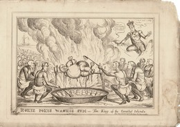 KING WILLIAM IV JOHN BULL WELLINGTON CANNIBAL ISLANDS 1830 WILLIAM HEATH - Historical Documents
