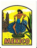 AUTOCOLLANT STICKER DÉCALCOMANIE ETATS-UNIS USA MEXICO BAXTER LANE CO AMARILLO TEXAS - Advertising