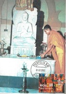 CARTE MAXIMUM-  MAXICARD- MAXIMUM KARTE- MAXIMUM CARD - MACAO / MACAU -2002- BOUDDHA ET MOINE-L'AUTEL DU SACRIFICE - Buddismo