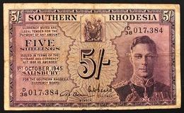 SOUTHERN RHODESIA King George VI 5 Shillings P8b 1945 Forellini Little Holes Lotto 2732 - Rhodesia
