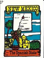 AUTOCOLLANT STICKER DÉCALCOMANIE ETATS-UNIS USA NEW-MEXICO  BAXTER LANE CO AMARILLO TEXAS - Publicité
