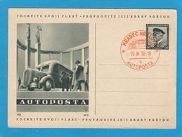 "GANZSACHE MIT BILD ""AUTOPOSTA"" ,STEMPEL ""HRADEC KRALOVE"". - Postcards"