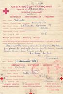SENEGAL COMITÉ CROIX-ROUGE DE DAKAR - Formule Pour Vichy 30/12/43 - Redcross WW2 Comité Central AOF - Documents Historiques