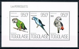 Bloc Sheet Oiseaux Perroquets Birds Parrots  Neuf MNH **  Togo 2013 - Perroquets & Tropicaux