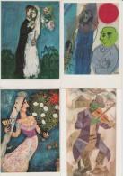 9 POSTCARDS : 'M. CHAGALL' - Peintures/Paintings/Schilderijen - ART/KUNST - France ( 4 Scans) - Postkaarten