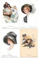 Harrison Fischer - 4 Postcard - About 1913 - Fisher, Harrison