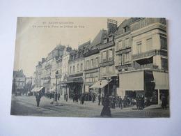 SAINT QUENTIN (02) : Place De L'HOTEL De VILLE - Tramway à Air Comprimé Mékarski - Voir Les 2 Scans - Saint Quentin