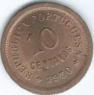 Cape Verde - Portuguese - 1930 - 10 Centavos - KM2 - UNC - Cape Verde
