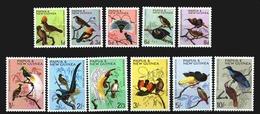 Papua N. Guinea 1962 Bird Definitives Y.T. 62/72 ** - Papouasie-Nouvelle-Guinée