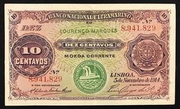 Mozambico 10 CENTAVOS 05 11 1914 P59 A.EF Lotto 2734 - Mozambique