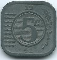Netherlands - Wilhelmina - 1941 - 5 Cents - German Occupation - Zinc - KM172 - [ 3] 1815-… : Royaume Des Pays-Bas