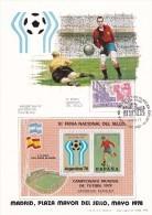España Sobre Nº 1378 Tarjeta Con Hoja Recuerdo - Copa Mundial
