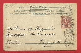 PS54 --- CARTOLINA VIAGGIATA 1902 CON FEANC. DA CENT. 2 DIRETTA A GIRGENTI OGGI AGRIGENTO ----- 2 SCANS - 1900-44 Victor Emmanuel III
