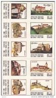 Boites D'allumettes-etiquettes,match Labels,etiketten, Czechoslovakia 1972,grand Etikette 55x77mm,Czech Castles-chateaux - Boites D'allumettes - Etiquettes