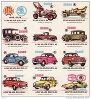 Boites D'allumettes-etiquettes,match Labels,Czechoslovakia 1972,Škoda Mlada Boleslav,old Car,voitures Anciennes - Boites D'allumettes - Etiquettes