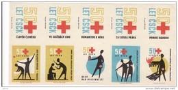 Boites D'allumettes-etiquettes,matchbox Labels,Czechoslovakia,Croix Rouge,red Cross,Rotes Kreuz,Croce Rossa - Boites D'allumettes - Etiquettes