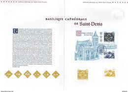 """"""" BASILIQUE CATHEDRALE DE SAINT-DENIS """" Sur Document Philatélique Officiel De 2015 De 4 Pages  N° YT F4930. DPO - 2010-...."""