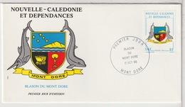 NOUVELLE CALÉDONIE - FDC  - 11 Octobre 1986 - Neukaledonien