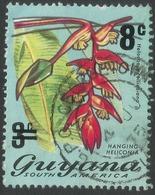 Guyana. 1975 Surcharge. 8c On 3c Used. SG 620 - Guyana (1966-...)