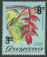 Guyana. 1975 Surcharge. 8c On 3c MH. SG 620 - Guyana (1966-...)