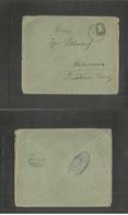 RUSSIAN LEVANT. 1914 (11 Oct) Gregorian Calendar. Jerusalem - Croatia, Kapronoza (10 Oct) PM Judaica Bilingual Hebrew Bu - Levant (Turquía)
