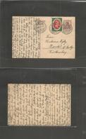 GERMANY - XX. 1921 (9 March) Reply Half Stat Card. Proper Usage. Switzerland, Bern - Karntal, Wuttemberg 15pf Violet Sta - Allemagne