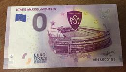 63 CLERMONT FERRAND STADE MICHELIN  BILLET 0 ZERO EURO SOUVENIR 2019 BANKNOTE 0 ZERO EURO SCHEIN PAPER MONEY - EURO