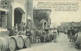 34 - Hérault - Bessan - La Cave Commune Et L' Annexe De La Coopérative De Production - Vignerons Paysans De Bessan - Sonstige Gemeinden