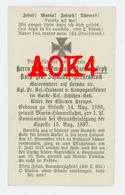 Sterbebild MONTE TOMBA Feltre 1917 Graf Korff Schmising Kerssenbrock Caporetto Garde Reserve Schützen Bataillon Adel - 1914-18