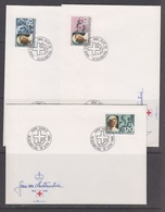 Liechtenstein 1985 Red Cross / Fürstin Gina 3v 3 FDC (44529) - FDC