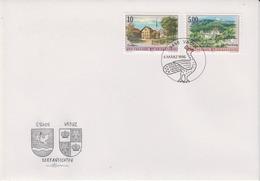Liechtenstein 1996 Dorfsansichten Eschen/Schloss Vaduz 2v FDC (44531) - FDC