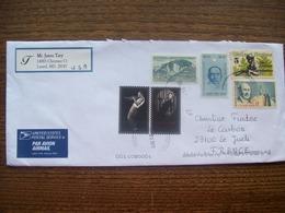 Etats-Unis: Enveloppe De 2019 - 6 Timbres ( Iles Davis, Edith Piaf, Sun-Yat-Sen, Davy Crockett...) - Briefe U. Dokumente