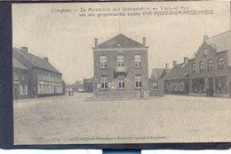 ICHTEGHEM - De Maektplaats Met Gemeentehuis,en Gekend Huis Van Alle Gespellewerke Kanten VAN RYCKEGHEM-MASSCHAELE - Ichtegem