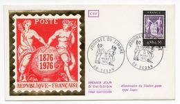 FDC France 1976 - Journée Du Timbre 1976 - Centenaire Du Type Sage YT 1870 - 08 Sedan - 1970-1979