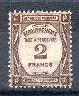 FRANCE - YT Taxe N° 62 - Neuf * - MH - Cote: 180,00 € - Taxes