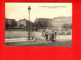 75 PARIS - Place Denfert Rochereau Prise De La Gare - Arrondissement: 14
