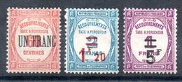 FRANCE - YT Taxe N° 63 à 65 - Neufs * - MH - Cote: 155,00 € - Taxes
