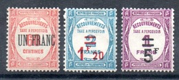 FRANCE - YT Taxe N° 63 à 65 - Neufs * - MH - Cote: 155,00 € - 1859-1955 Mint/hinged