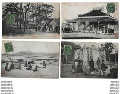 TONKIN   Lot De 4 Cartes   (en L'état) - Vietnam