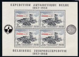 1957, Belgien, 1073 Block 25, Belgische Südpolexpedition. MNH **, - Blocks & Kleinbögen 1924-1960